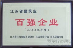 2009 Hundred Strongest Enterprises in Jiangsu's Architecture