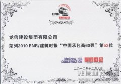 Year 2010 ENR's/Construction Times Top 60 Chinese Contractor